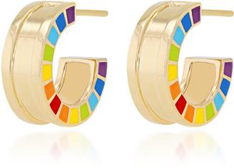 Aisha Baker Me 18K Gold Enamel Earrings