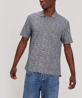 Oliver Spencer Yarmouth Fan Print Short-Sleeved Shirt