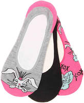 Betsey Johnson Bunny No Show Liners - 3 Pack - Women's