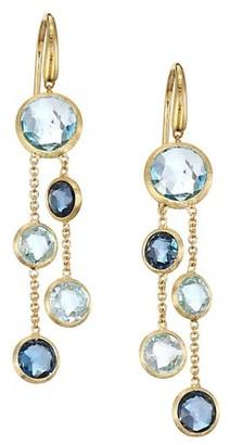 Marco Bicego Jaipur 18K Yellow Gold & Topaz Drop Earrings