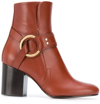 Chloé Ring Detail Ankle Boots