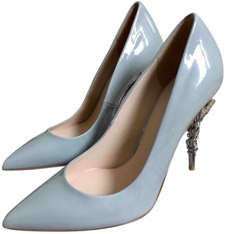 RALPH & RUSSO Blue Patent leather Heels