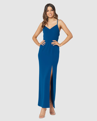 Pilgrim Women's Blue Maxi dresses - Mae Gown - Size One Size, 6 at The Iconic