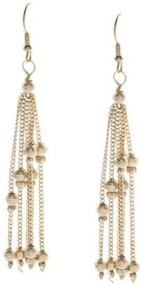 Alexa Starr Goldtone Linear Chain Earrings - Gold