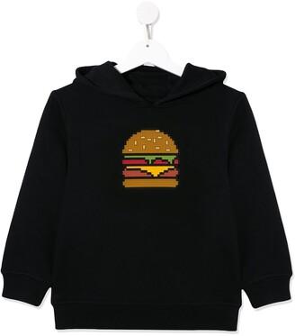 Mostly Heard Rarely Seen 8 Bit burger hoodie