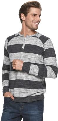 Heritage Men's Raglan Striped Henley Shirt