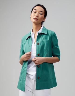 Lafayette 148 New York Italian Pima Cotton Bi-Stretch Pascal Jacket