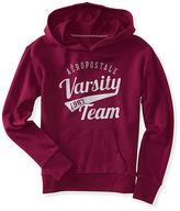 Aeropostale Womens Varsity Team Popover Hoodie