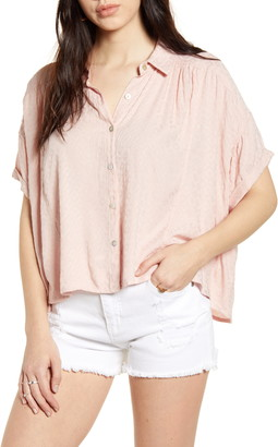 BP Textured Oversize Button-Up Shirt