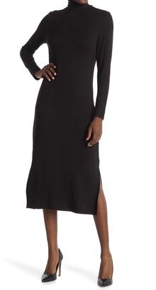 T Tahari Turtleneck Long Sleeve Midi Dress