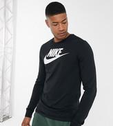 Nike Tall Futura Icon long sleeve t-shirt in black