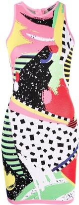Balmain Abstract-Intarsia Knitted Dress
