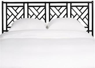 David Francis Furniture Chippendale Headboard - Black Queen