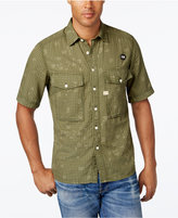 G Star Men's Type C Check Graphic-Print Short-Sleeve Shirt