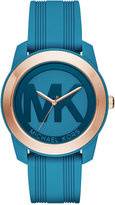 Michael Kors Women's Preston Turquoise Silicone Strap Watch 43mm MK2559 - A Macy's Exclusive
