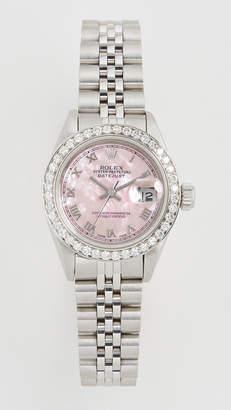 Rolex Pre-Owned Ladies Datejust Pink Mop Roman, Diamond Bezel, Jubilee Band