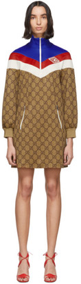 Gucci Beige GG Logo Dress