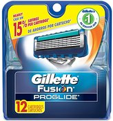 Gillette Fusion ProGlide Manual Men's Razor Blade Refills, 12 Count