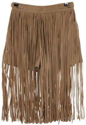 Tamara Mellon Brown Leather Shorts for Women