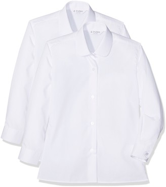 Trutex Girl's 2Pk Ls Katie Collar Shirt