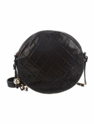 Chanel Vintage Lambskin Round Crossbody Black