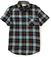 Timberland Sugar River Plaid Slim-Fit Short-Sleeve Woven Shirt