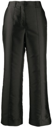 Lanvin Cropped Satin Trousers