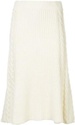 Muller of Yoshio Kubo Muller Of Yoshiokubo flared knitted midi skirt