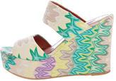 Missoni Knit Platform Slide Sandals