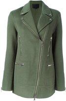 Alexander Wang asymmetric zip coat