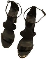 Calvin Klein Black Patent leather Sandals