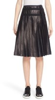 Tomas Maier Women's Pleated Lacquered Denim Skirt