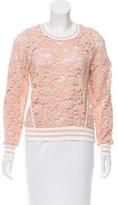Veronica Beard Jet Guipure Lace Sweatshirt w/ Tags