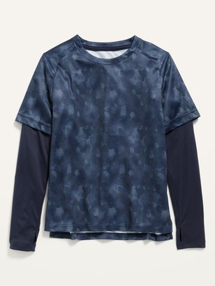 Old Navy Go-Dry Camo 2-in-1 Performance Tee for Boys