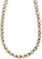 "Giani Bernini 24k Gold over Sterling Silver Necklace, 24"" Twist Link"
