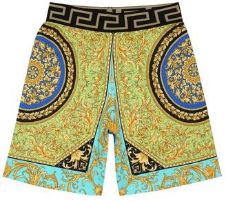 Versace Kids Printed cotton shorts