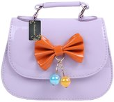 Donalworld PU Leather Little Girl Kid Handbag Meengerhoulder Pure Bag
