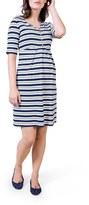Isabella Oliver 'Beaumont' Stripe Maternity Dress
