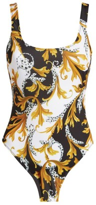 Versace Baroque Scoop-Back Swimsuit