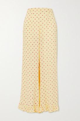 Faithfull The Brand La Ponche Ruffled Floral-print Pajama Pants - Yellow
