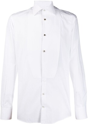 Dolce & Gabbana Chest Applique Fitted Shirt