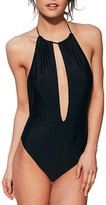 Haoduoyi Women Cut Out Backless Halter Stretchy Beach One-Piece Swimsuit(M,)