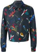 Salvatore Ferragamo printed jacket - men - Cotton/Silk/Cupro - 48