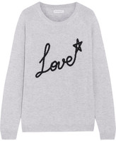 Chinti and Parker Love Star Intarsia Cashmere Sweater - Light gray