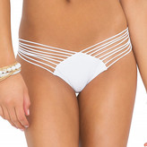 Luli Fama Cosita Buena Strappy Brazilian Ruched Back In White (L17620)
