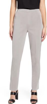 Ming Wang Straight Leg Knit Pants