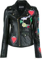 House of Holland heart patches biker jacket