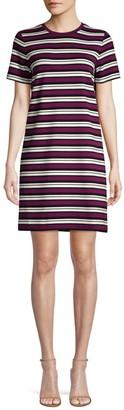 Michael Kors Striped Short-Sleeve T-Shirt Dress