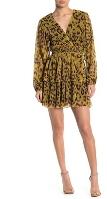 4SI3NNA the Label Flynn Leopard Print Mini Dress