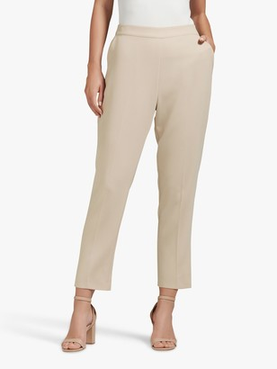 Forever New Carrie Ankle Grazer Trousers, Nude